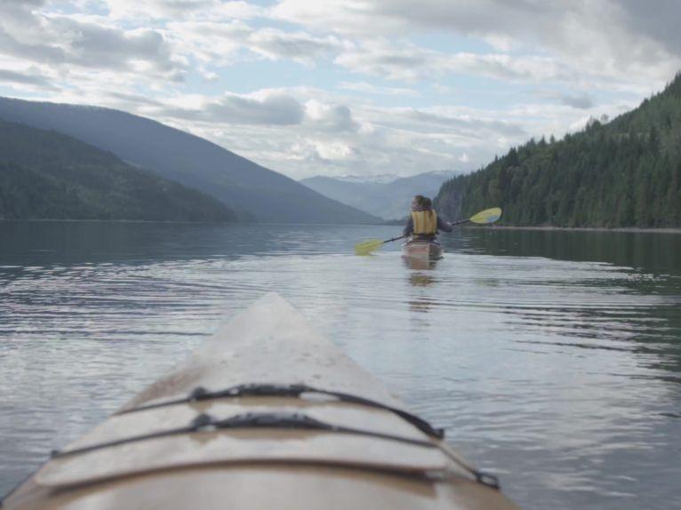 Kayaking on Lake Revelstoke